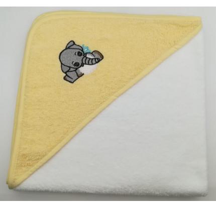Полотенце-конверт Valtery Слоненок (белый) 70x70