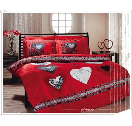 Постельное белье TAC Just Love (красное)