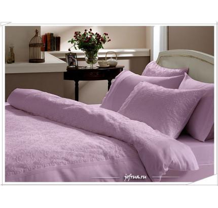 Свадебное постельное белье Gelin Home Sedef (лиловое) евро