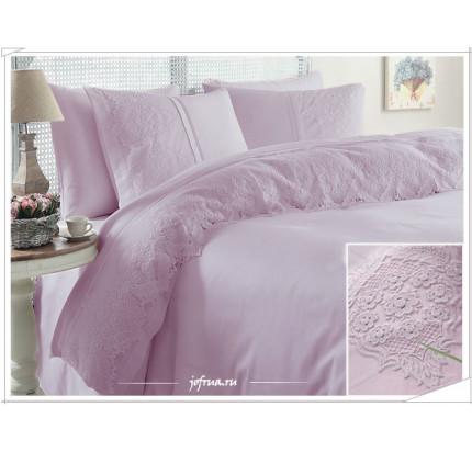 Свадебное постельное белье Gelin Home Donna (лиловое) евро