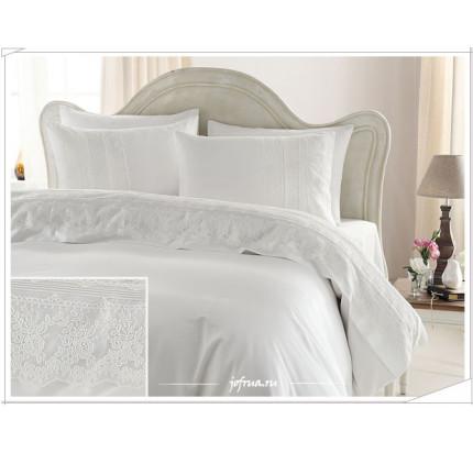 Свадебное постельное белье Gelin Home Jessica (белое) евро