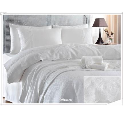 Свадебный набор Gelin Home Charlotte (белый) евро