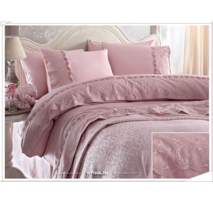 Свадебный набор Gelin Home Charlotte (розовый) евро