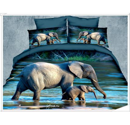 Постельное белье Kingsilk Seda PX-16 Слоны