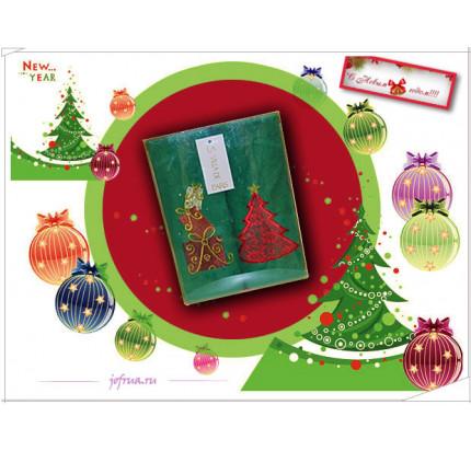 Новогодний набор полотенец La Villa Ёлочка (зеленый, 2 предмета)