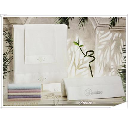 Набор полотенец Tivolyo Bamboo (кремовый) 3 предмета