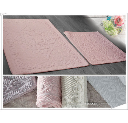 Набор ковриков Gelin Home Sonil (2 предмета) грязно-розовый