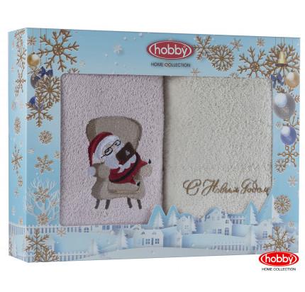 Набор новогодних полотенец Hobby Home A4 (50x90, 2 предмета)