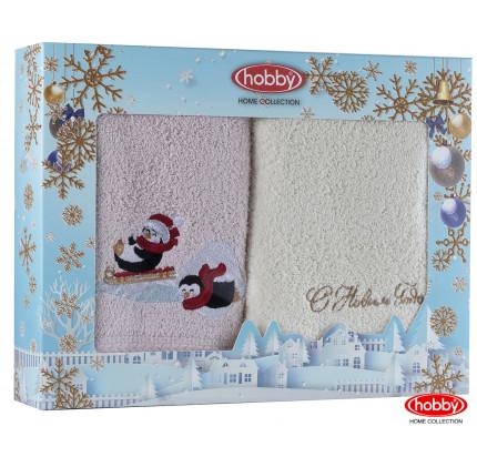 Набор новогодних полотенец Hobby Home A13 (50x90, 2 предмета)