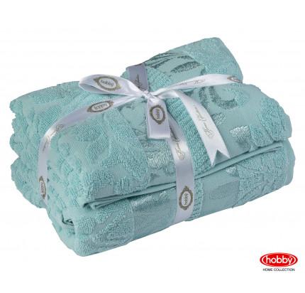 Набор полотенец Hobby Home Versal зеленый (50x90+70x140 - 2 предмета)