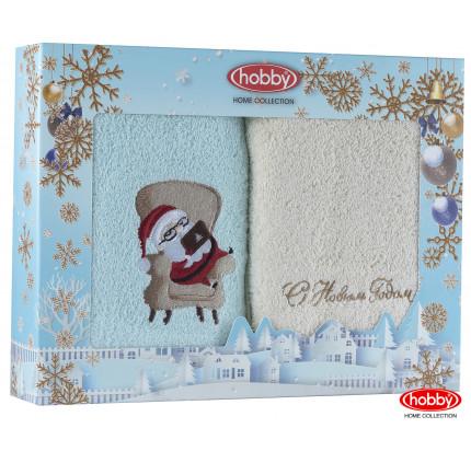 Набор новогодних полотенец Hobby Home A6 (50x90, 2 предмета)