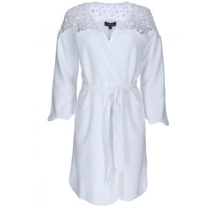 Халат женский Soft Cotton Rosella (белый)