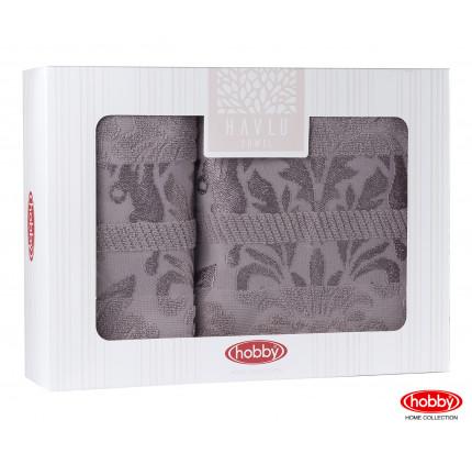 Набор полотенец Hobby Home Versal в коробке (2 предмета, серый)