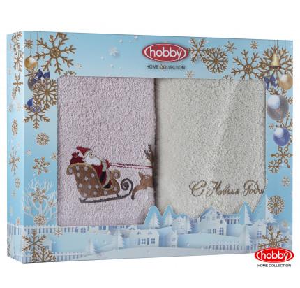 Набор новогодних полотенец Hobby Home A7 (50x90, 2 предмета)