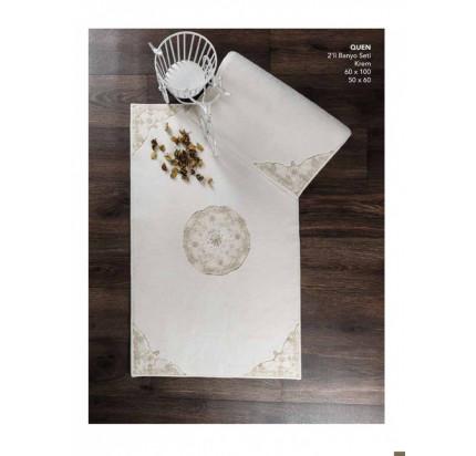 Набор ковриков Karven Quen кремовый (50x60+60x100)