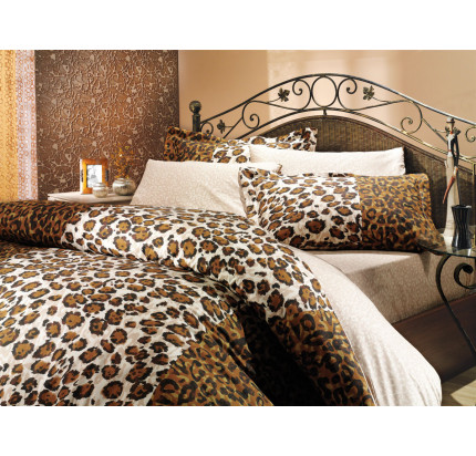 Постельное белье Hobby Home поплин Adriana (коричневый)