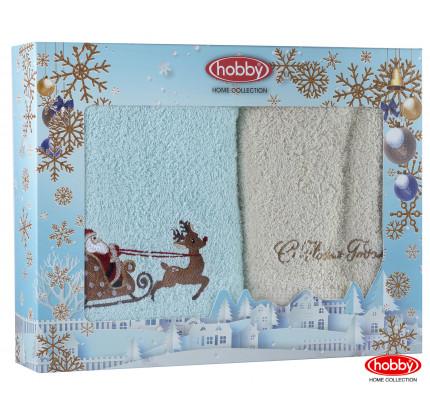 Набор новогодних полотенец Hobby Home A9 (50x90, 2 предмета)