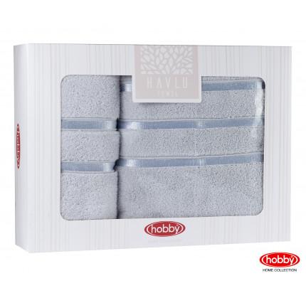 Набор полотенец Hobby Home Dolce в коробке (2 предмета, светло-голубой)