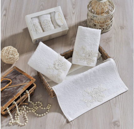 Набор салфеток Irya Actuel (молочный) 30x50 (3 шт.)