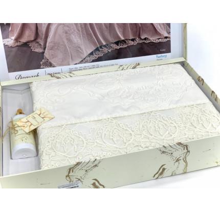 Комплект с покрывалом Evelina Damask крем 6 предметов