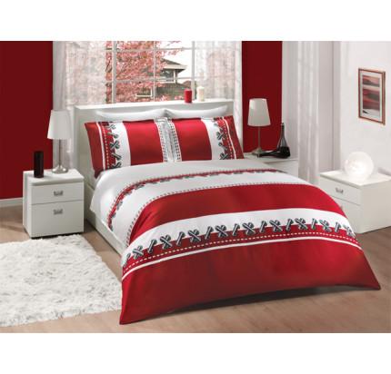 Постельное белье Altinbasak Dupont (красное) евро
