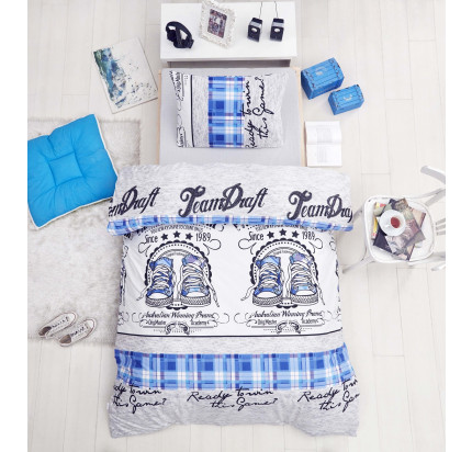 Детское постельное белье Altinbasak Molly (голубое)
