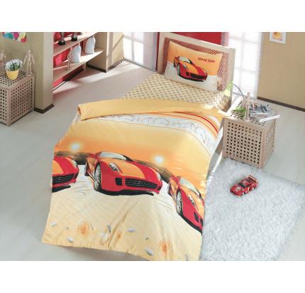 Детское постельное белье Altinbasak Speed Time (красное)