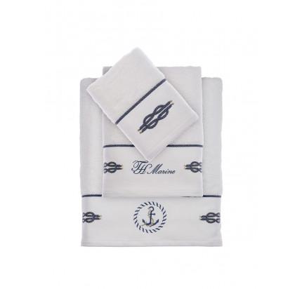 Набор полотенец Tivolyo Home Ancora (белый) 3 предмета + ароматизатор