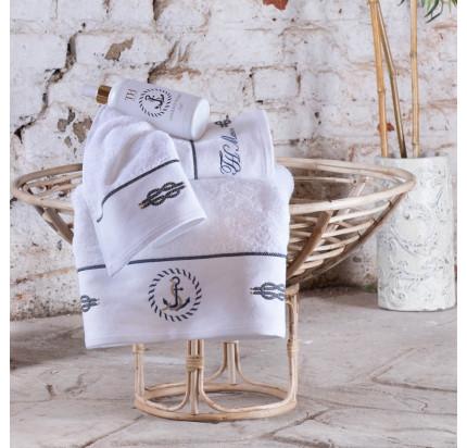 Полотенце Tivolyo Home Anchor (белый)