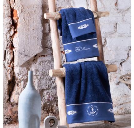Полотенце Tivolyo Ancora (темно-синий) 2 предмета