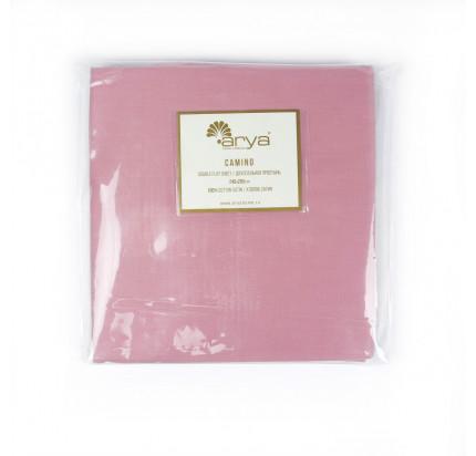 Сатиновая простынь Arya Camino (розовая)