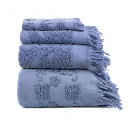 Полотенце с бахромой Arya Isabel (голубое)