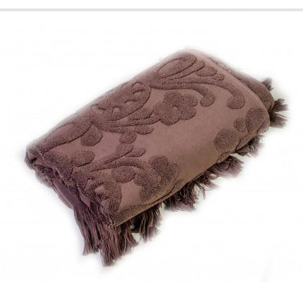 Полотенце с бахромой Arya Isabel (коричневое)