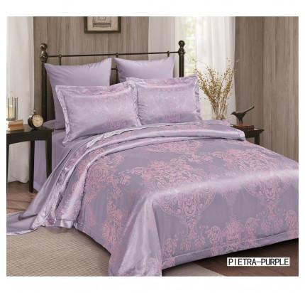Постельное белье Arya Pietra фиолетовое евро