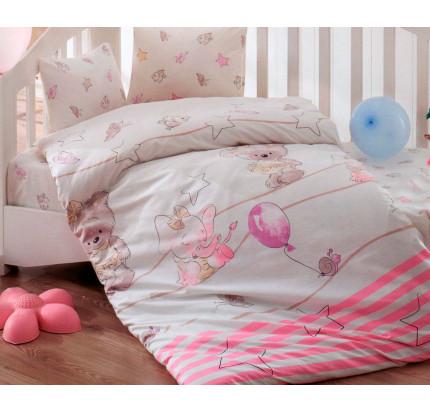 Детское белье в кроватку Arya Olivia (розовое)