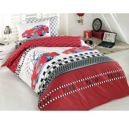 Детское белье в кроватку Arya Ferrari (красное)