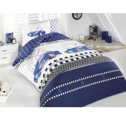 Детское белье в кроватку Arya Ferrari (синее)