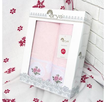 Набор полотенец Arya Rosalina (2 предмета, розовый)