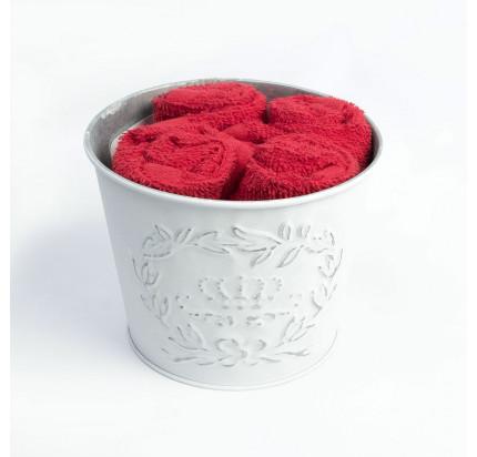 Набор салфеток Arya Snabby красный 30x30 (4 предмета)