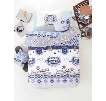 Детское постельное белье Altinbasak Athletik (голубое)