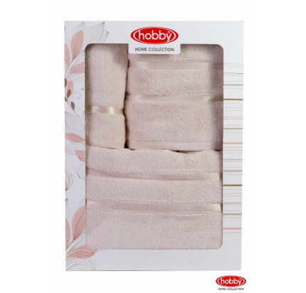 Набор полотенец Hobby Home Dolce в коробке (3 предмета, светло-желтый)
