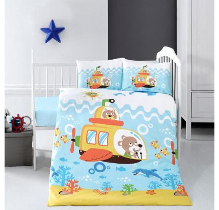 Детское белье в кроватку Arya Home Under Sea