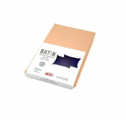 Наволочка Karven сатин терракотовый V1 50x70+5см (2 предмета)