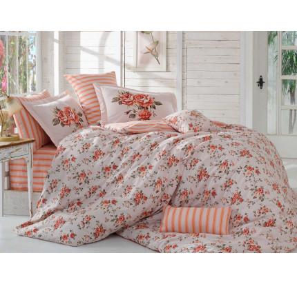 Постельное белье Hobby Home поплин Flora (персиковый)