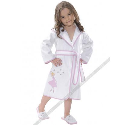 Халатик детский Soft cotton Ballerina (розовый)