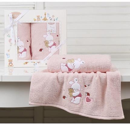 Набор полотенец Karna Bambino Bunny (2 предмета, розовый)