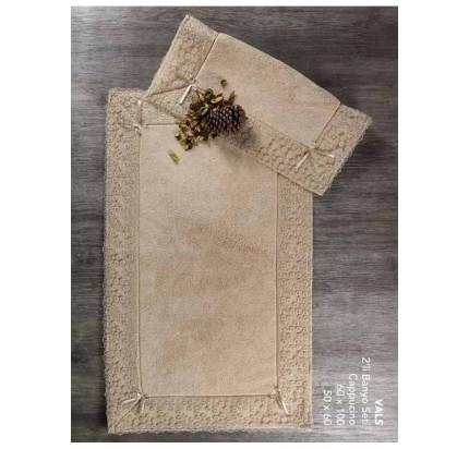 Набор ковриков Karven Vals капучино (50x60+60x100)