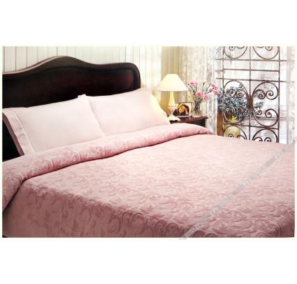 Покрывало-пике Tivolyo Home Baroc (розовый)