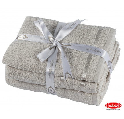 Набор полотенец Hobby Home Nisa бежевый (50x90+70x140 - 2 предмета)