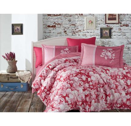 Постельное белье Hobby Home сатин Amalia (бордовый)